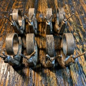 Rustic Metal Snail Napkin Rings 8 Adorable